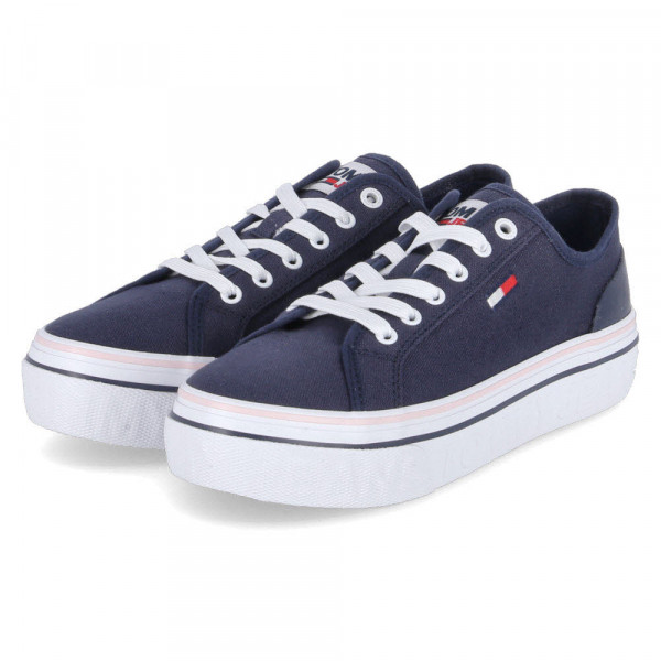 Sneaker Low TOMMY JEANS FLATFORM VU Blau - Bild 1
