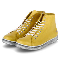 Stiefeletten Gelb