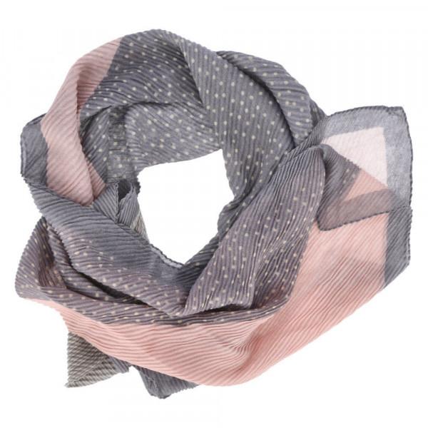 Schal PLISSEE Rosa - Bild 1