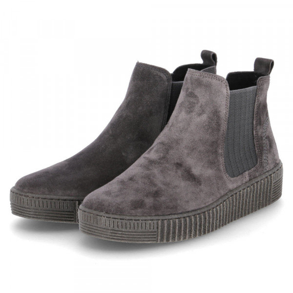Damen Stiefeletten/ Chelsea Boots Grau - Bild 1