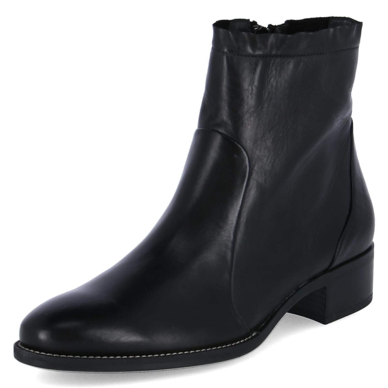 Paul Grün Damen Stiefeletten schwarz Leder 9673-005